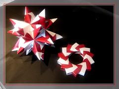 Bascetta night (Foglienere) Tags: stella star origami modular paperfolding anello bascetta