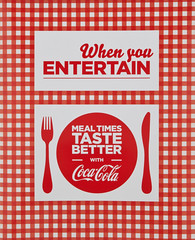 When you Entertain, by Coca-Cola
