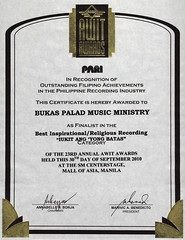 Nomination Certificate: 23rd Awit Awards