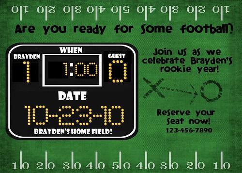 Football 1st Birthday
