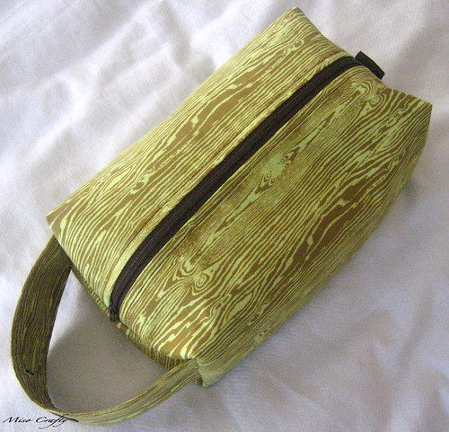 Green Faux Bois Project Bag