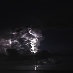 Electric Monster (Lumase) Tags: sea storm clouds square elba poetry poem haiku electricity tempest fury demons lighning isoladelba electricmonster transtrmer lighningstom