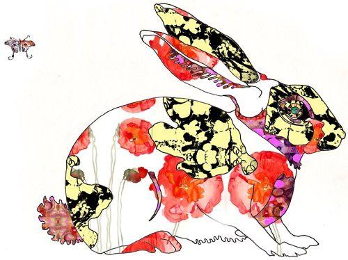 Bunny Rabbit Art Print by Nicole FitzGibbon, Varnish