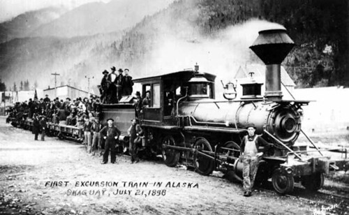 The first excursion train in Alaska, Skagway, Alaska