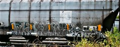WKT - Syke - ? (mightyquinninwky) Tags: overgrown graffiti weeds character tag graf tags tagged railcar graff graphiti hopper hollow hollows trainart railart syke spraypaintart wkt hopperart paintedhopper taggedhopper paintedrailcar taggedrailcar 11223344556677 carfireonflickr charactersformyspacestation