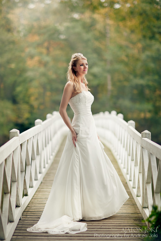 Finland bride on a bridge