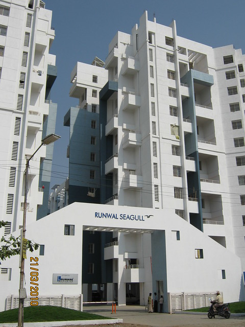Runwal Seagull, Handewadi Road, Hadapsar, Pune 411 028 -  A 2 & A3 Building with Main Entrance