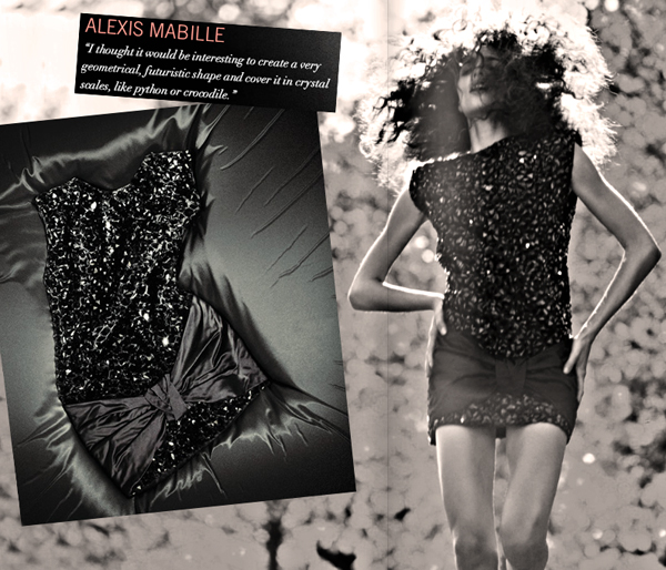 alexis mabille little black dress