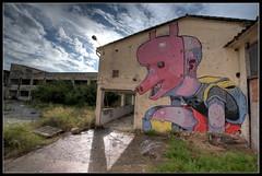 ARYZ VI (Romany WG) Tags: barcelona boy urban art graffiti mixed spain media outsider crew massive masked 2010 granollers aryz