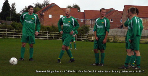 Cliffe FC 3 - 1 Stamford Bridge Res (York FA Cup R2) 25Sept10