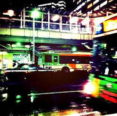 雨の日の都バス。