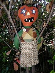 felt pumpkin head doll