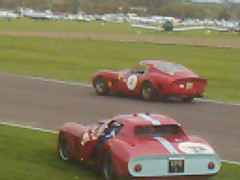 Gounon pulls a doughnut and the door flies open! (74Mex) Tags: jean atmosphere ferrari marc bobby tt goodwood 250 2010 revival rahal gounon gto64