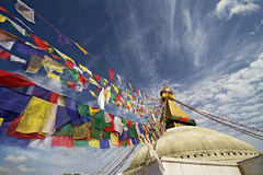 Boudhanath (Matteo Allegro [www.matteoallegro.com]) Tags: travel nepal sky color monument colors clouds religious asia buddha stupa buddhist prayer religion pray praying culture mandala flags east holy valley 7d tibetan kathmandu holi boudhanath spherical nationalgeographic 10mm bodhnath devnagari bouddhanath newari mywinners colorphotoaward caitya baudhanath bestcapturesaoi  khsa