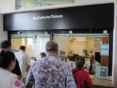 Ticketschalter in Italien / Bahnhof