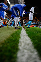 Chelsea v Olympique Marseille (toksuede) Tags: uk bridge england london sports sport foot football marseille nikon chelsea fussball soccer shift deporte stamford om tilt futebol league champions d3 voetbal olympique 2010 calcio tiltshift 2011