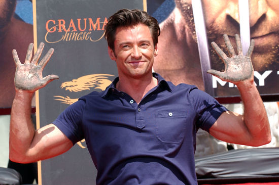 Hugh Jackman with dirty hands that want to cup my body parts.