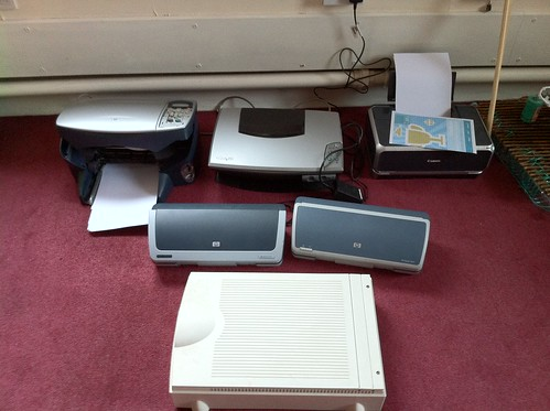 Printers and Scanners awaiting disassembly