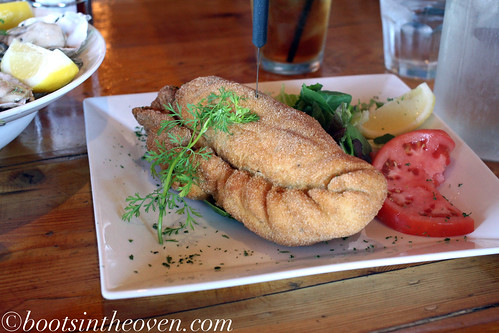 Potato dough seafood calzone