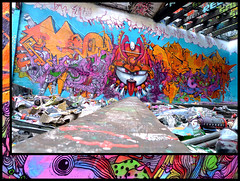 By DEM189, RAMON, SETH (Thias (-)) Tags: terrain streetart paris monster wall set painting graffiti mural spray urbanart painter graff ramon aerosol ra dem bombing ermitage spraycanart monstre ronin pgc thias ramonmartins photograff frenchgraff photograffcollectif dem189