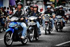 bikers (marbleplaty) Tags: street volcano nikon ruins fiesta candid philippines motorcycles bikes parade september archives past bicol 2009 wreckage typhoon assorted padang daraga legazpi albay busay d80 reming marbleplaty paoloarroyo