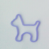 Shaped rubber bands: dog purple