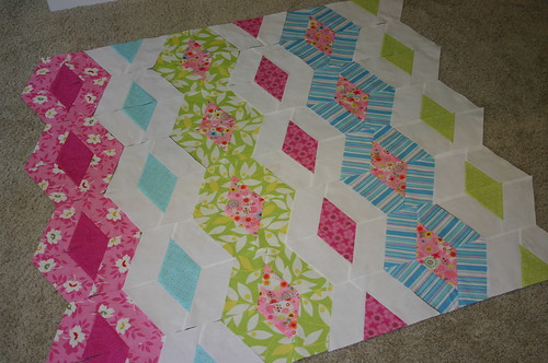Diamond Chain Quilt - planning
