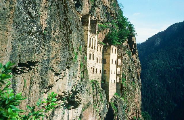 Turquie : ruines du monastère de Sumela