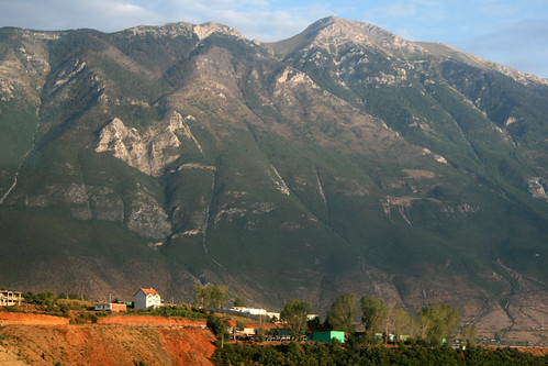 Village under the mountain