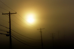 Power (FontaineRittelmann) Tags: morning sun mist cold lines fog sunrise early power foggy warmth hills transparent rolling