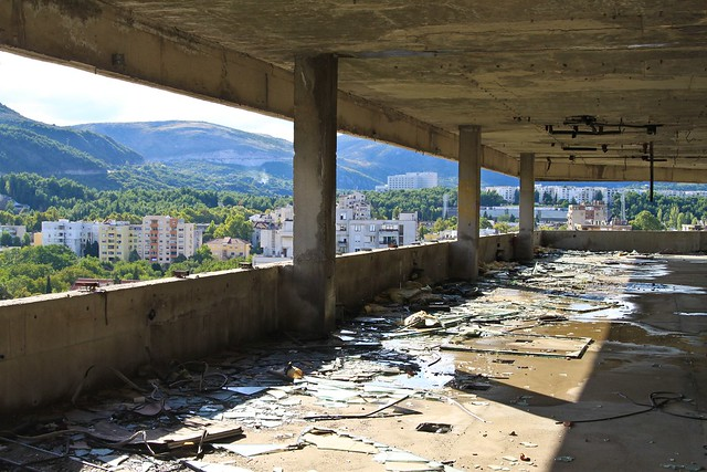 Bombed out office building - Mostar, Bosnia