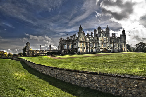 Burghley house from Ha-Ha