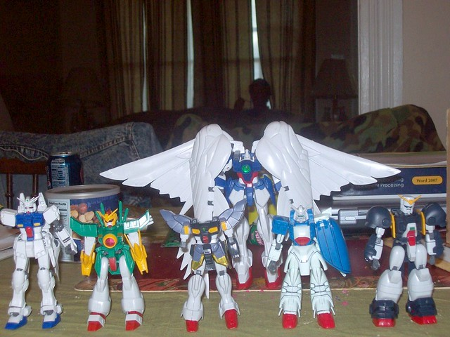 Gundams from the Gundam lot pt 1 by Zoidstar