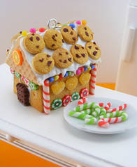 Gingerbread House (Shay Aaron) Tags: christmas xmas food tree scale dessert miniature necklace handmade aaron fake mini jewelry charm polymerclay fimo biscuit ornament sprinkles tiny faux shay icing citrus candycane 12th 112 pretzel pendant frosting whimsical geekery marmalade jewel petit twelfth hanselandgretel chocolatechipscookie christmasspirit brothergrimm shayaaron wearablefood houseofcandy crystalcuts