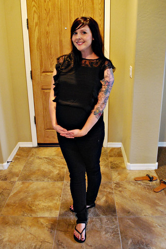 8.5 months pregnant