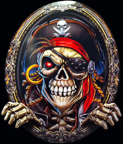 Pirate Skull Plaque