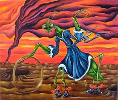 Lisette's New Shoes (Grant Cunningham) Tags: dark painting intense colorful montreal vibrant grant fineart gothic goth fantasy horror cunningham bizarre alternative oilpainting lowbrow apocalyptic gothart darkart finearts lowbrowart alternativeart gothicart montrealais montrealer bizarreart montrealartist grantcunningham grantmontreal