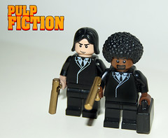 Pulp Fiction Lego Style. (Craig 'Lego' Lyons) Tags: fiction cinema film john movie gangster gun lego afro jackson pulpfiction l pulp minifig custom samuel briefcase gangsta quentin travolta tarantino minifigures