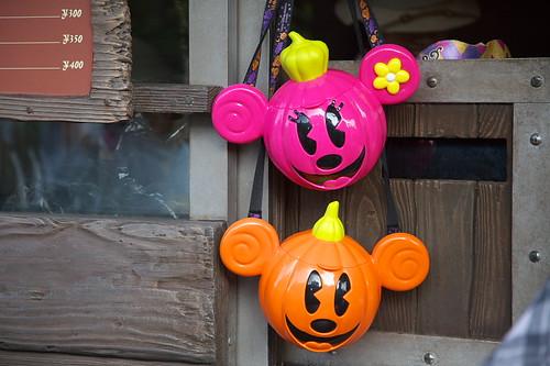 ミッキーミニーのハロウィンかぼちゃポップコーンバケット