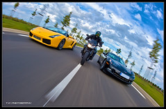 #275/365 Street Hawks [EXPLORED] (iPh4n70M) Tags: road cars speed photography photo nikon raw photographer photographie fast voiture fisheye photograph single tc moto motorcycle 365 nikkor bp 16mm quick corvette lamborghini hdr supercars vitesse photographe rapide 1raw d700 tcphotography fli baladesparisiennes ph4n70m iph4n70m tcphotographie