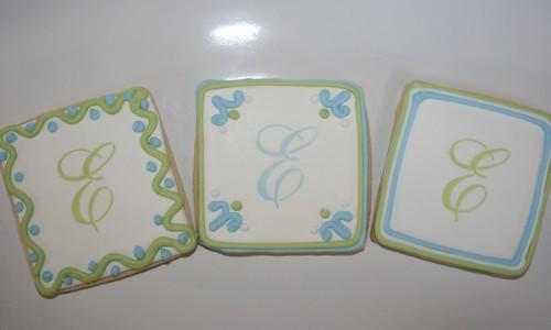Monogrammed Bridal Cookies