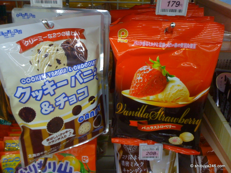 2 great candy treats. cookie vanilla and Vanilla Strawberry