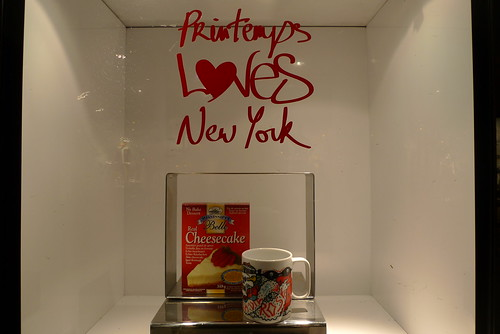 Vitrines Printemps loves new York - Paris, octobre 2010