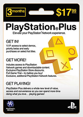 PlayStation Plus retail card: 3 months