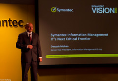 Deepak Mohan at Symantec Vision 2010