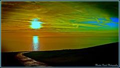 Sunrise over Beachy Head (Martin David Photography) Tags: sea reflection sunrise nikon brighton eastbourne footpath beachyhead nikond3000 pse8 martindavidphotography