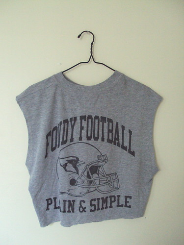 Cut off Football T-shirt (back)