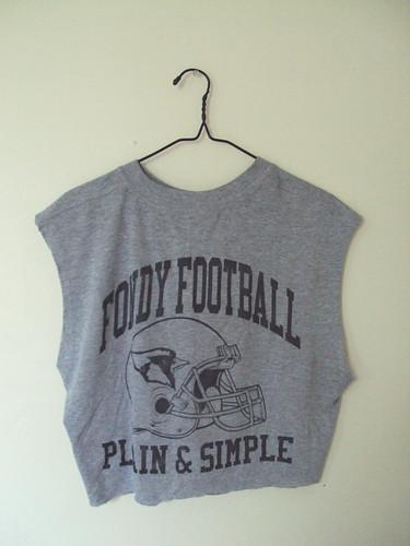 Cut off Football T-shirt (back)