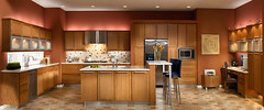 Square Recessed Panel - Veneer Quartersawn Oak (MRO) (KraftMaid Cabinetry) Tags: orange kitchen modern contemporary cream shm transitional quartersawnoak vesat vetroaluminumwithsatina shapedmolding swhbf stainlessbowfrontwallhood contemporarydynamic kraftmaidkraftmaidcabinetrycabinetscabinetrymascokraftmaidkraftmaidcabinetrycabinets