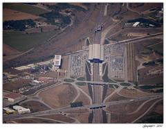 Gare de Valence TGV (Greyshift11) Tags: france robin saint train lumix canal gare rhône panasonic ciel g1 mm gorges vue barrage 45mm ville dmc tgv ardeche valence avion gard sncf millau viaduc rhone 1445 200mm ardèche éolienne nazaire 14mm survol eoliennes sénéchas dmcg1 senechas